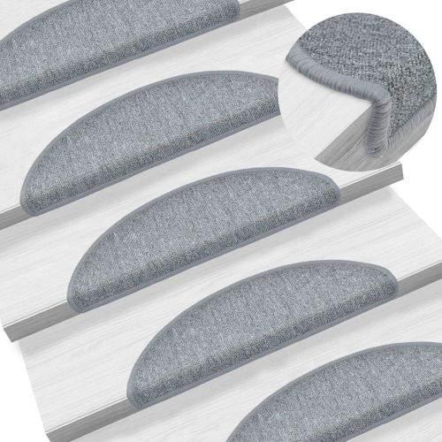 shumee 15 ks Nášlapy na schody světle šedé 56 x 17 x 3 cm
