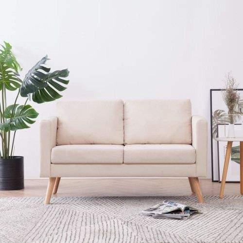 shumee 2místná sedačka textilní krémová