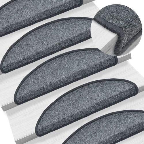 shumee 15 ks Nášlapy na schody tmavě šedé 56 x 17 x 3 cm