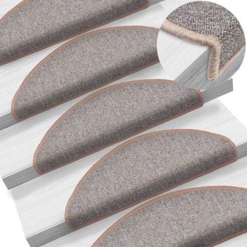 shumee 15 ks Nášlapy na schody světle hnědé 65 x 24 x 4 cm