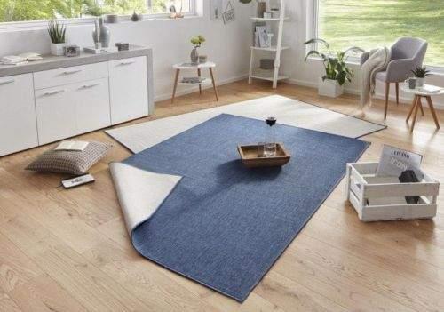Bougari AKCE: 80x150 cm Kusový koberec Twin-Wendeteppiche 103100 blau creme 80x150