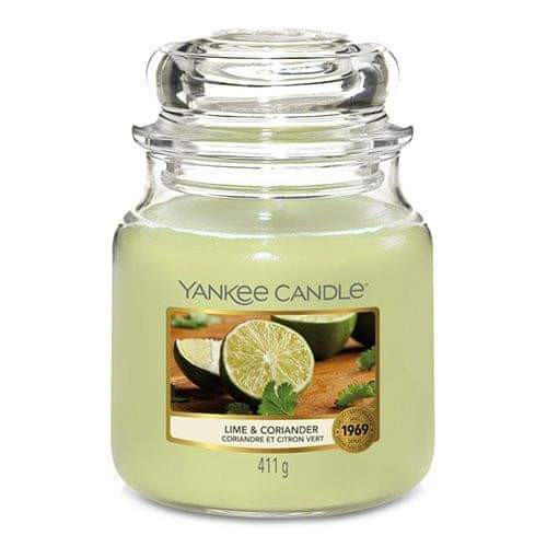 Yankee Candle Svíčka ve skleněné dóze , Limetka a koriandr, 410 g