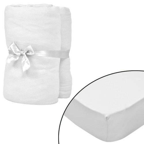 shumee Napínací prostěradla do kolébky 4ks bavlna jersey 40x80 cm bílá
