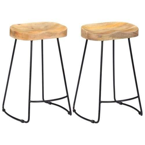 shumee Barové stoličky Gavin 2 ks masivní mangovníkové dřevo