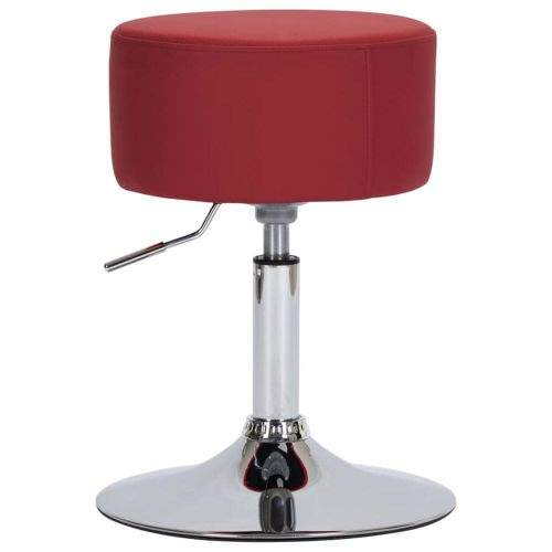 shumee Barová stolička vínová umělá kůže