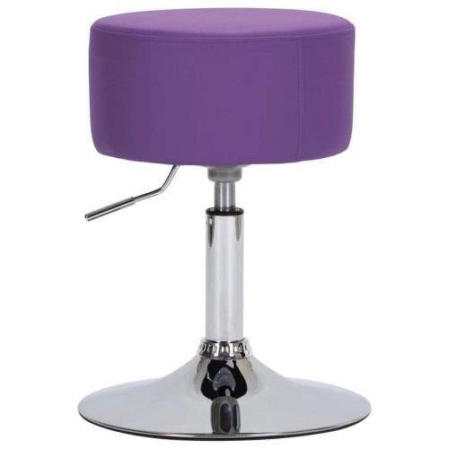 shumee Barová stolička fialová umělá kůže
