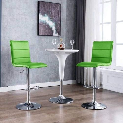 shumee Barové židle 2 ks zelené umělá kůže
