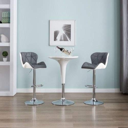 shumee Barové stoličky 2 ks šedé umělá kůže
