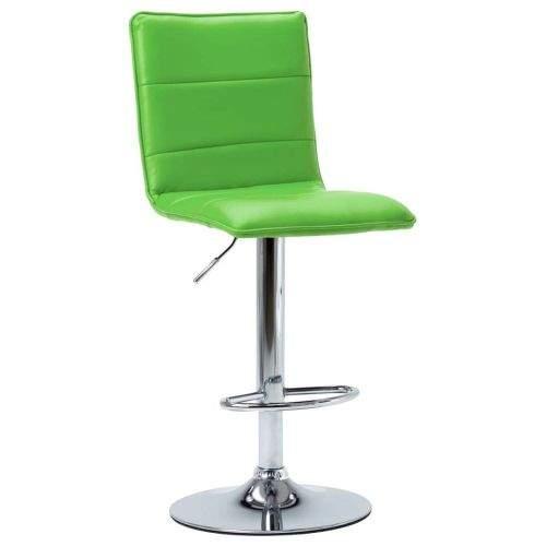 shumee Barová židle zelená umělá kůže