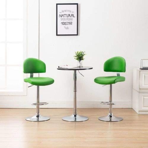 shumee Barová stolička zelená umělá kůže