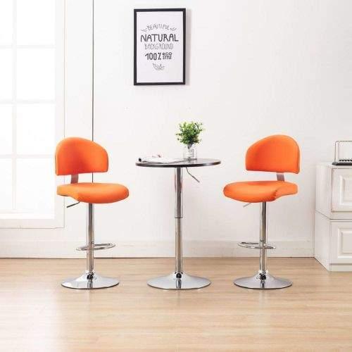 shumee Barové stoličky 2 ks oranžové umělá kůže