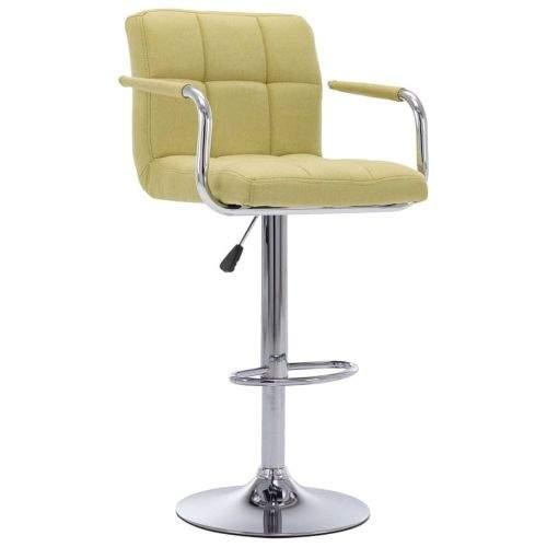 shumee Barová židle zelená textil