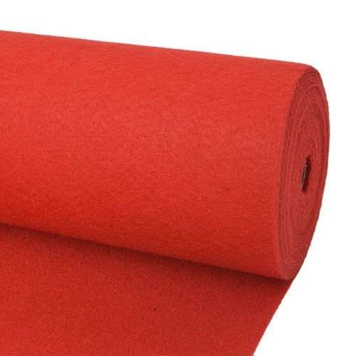 shumee Výstavářský koberec hladký 1,6 x 12 m červený