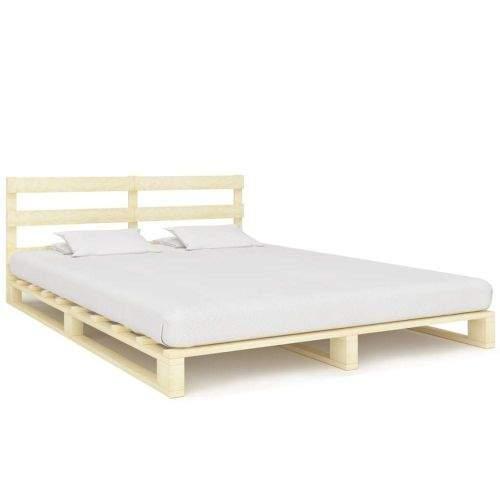 shumee Rám postele z palet masivní borovice 140 x 200 cm