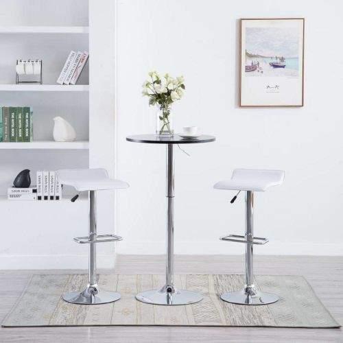 shumee Barové stoličky 2 ks bílé umělá kůže
