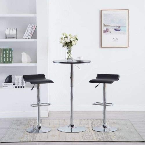 shumee Barové stoličky 2 ks černé umělá kůže