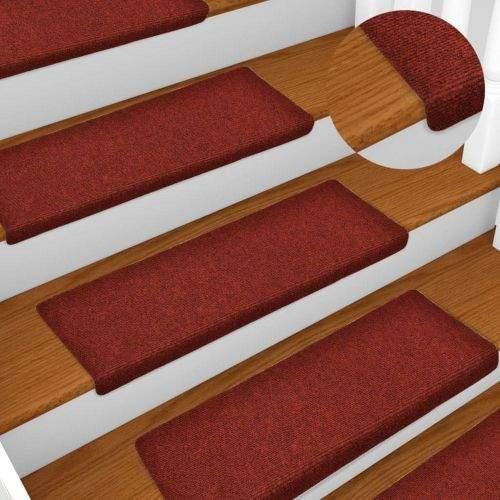 shumee Nášlapy na schody 15 ks vpichované 65 x 25 cm červené
