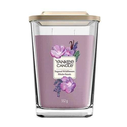 Yankee Candle Svíčka ve skleněné váze , Cukrové divoké květy, 552 g