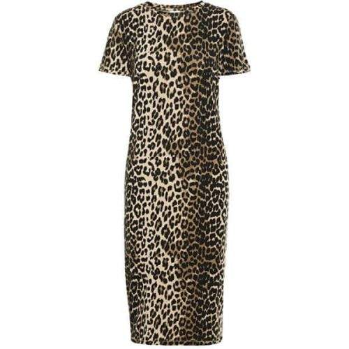 Vero Moda Dámské šaty VMGAVA SS AOP DRESS VMA Oatmeal LEOPARD (Velikost XS)