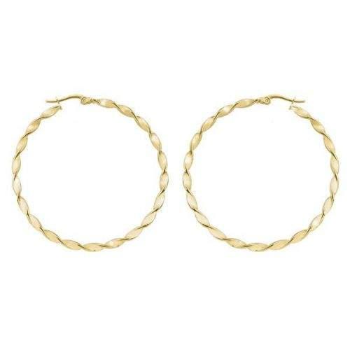 Troli Kruhové pozlacené náušnice 2 - 5 cm (Průměr 2 cm)