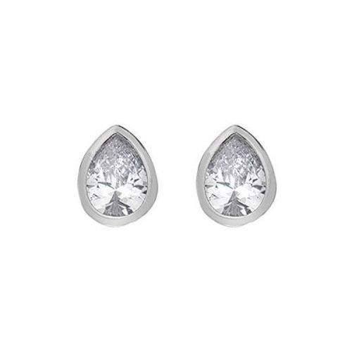 Hot Diamonds Třpytivé stříbrné náušnice Emozioni Acqua Amore EE038