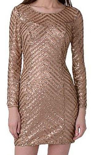 Guess Flitrované měďené šaty Guess Velikost: XS