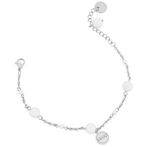Liu Jo Ocelový náramek s perličkami LJ1501