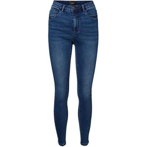 Vero Moda Dámské skinny džíny VMSOPHIA 10228584 Dark Blue Denim (Velikost L/30)