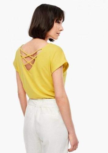 s.Oliver dámské tričko 05.006.32.5309 36 žlutá