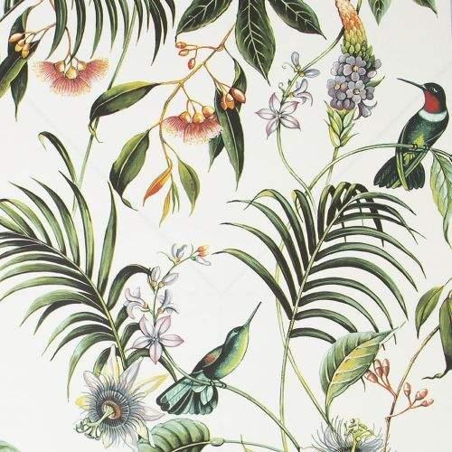 Graham & Brown Vliesová tapeta Květiny, listy a ptáci 106975, Adilah White, Paradise, Graham & Brown, Vavex 2022
