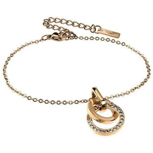 VictoriaWallsNY Pozlacený ocelový náramek VB1077G