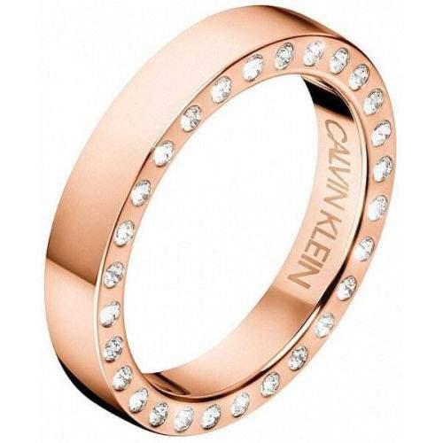 Calvin Klein Luxusní ocelový prsten s krystaly Hook KJ06PR1402 (Obvod 57 mm)