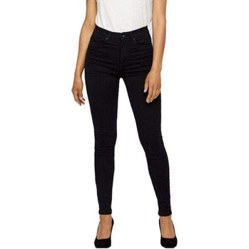 Vero Moda Dámské skinny džíny VMSOPHIA 10209215 Black (Velikost L-30)
