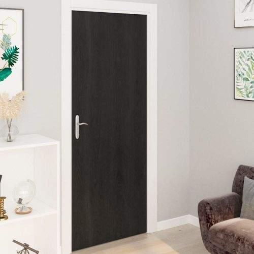 shumee Samolepící tapety na dveře 2 ks tmavé dřevo 210 x 90 cm PVC