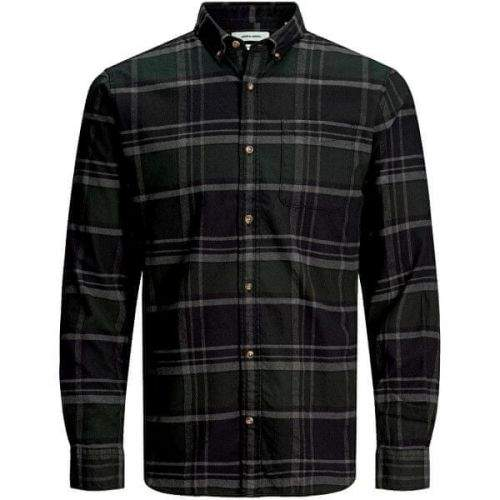 Jack&Jones Pánská košile JJECLASSIC 12172667 Olive Night (Velikost S)