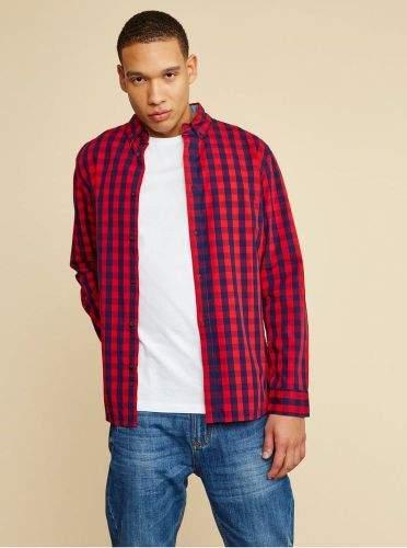 ZOOT červená pánská kostkovaná košile Aiden S