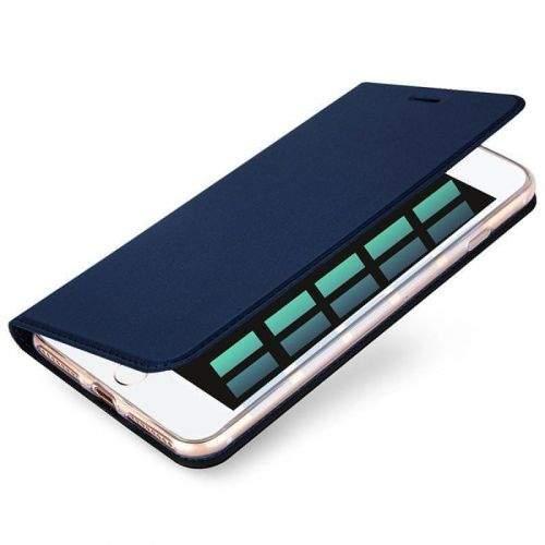 Dux Ducis Skin Pro knížkové kožené pouzdro na iPhone 7/8 Plus, modré
