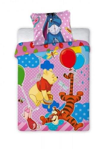 FARO Textil Dětské povlečení Medvídek PÚ růžové 135x100 cm