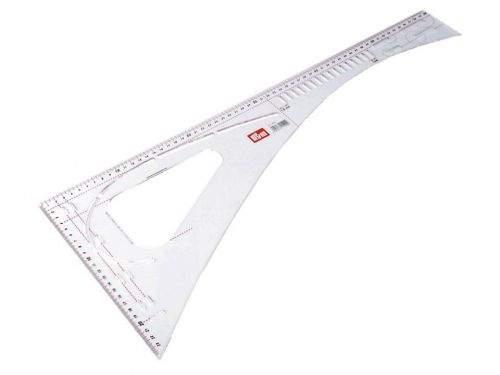 Kraftika 1ks transparent krejčovský příložník / pravítko prym délka