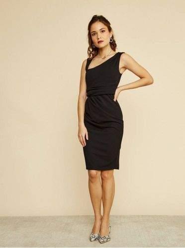 ZOOT černé pouzdrové šaty S