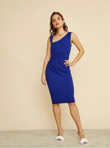 ZOOT modré pouzdrové šaty S