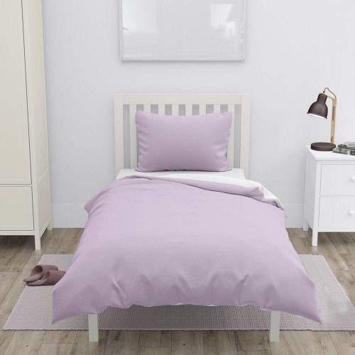 Home Elements Bavlněné povlečení, bílá + růžová, jednolůžko