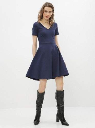 ZOOT tmavě modré basic šaty Julia XS