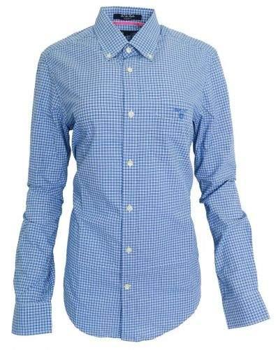 Gant Modrá károvaná košile Gant Modrá S, Rukáv: Dlouhý