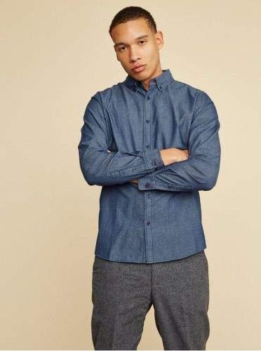 ZOOT Baseline modrá pánská košile Aiden S