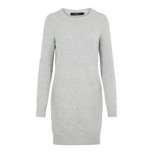 Vero Moda Dámské šaty VMDOFFY 10215523 Light Grey Melange (Velikost XS)