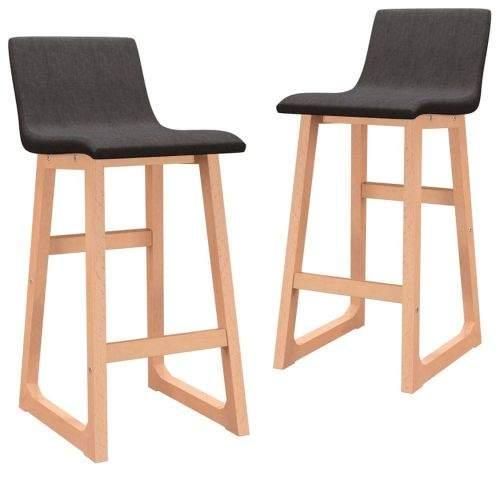 shumee Barové židle 2 ks hnědé textil