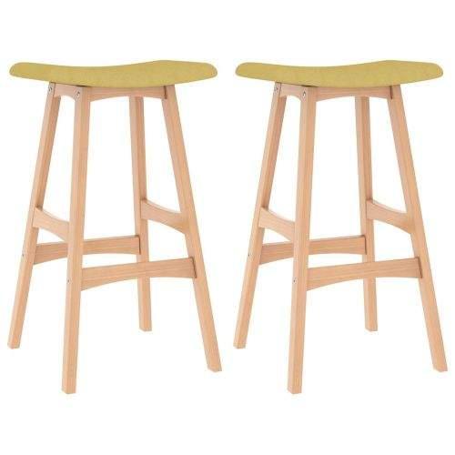 shumee Barové stoličky 2 ks hořčicově žluté textil