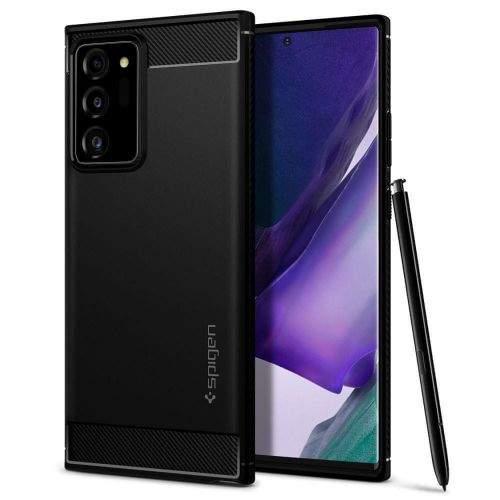 Spigen Rugged Armor silikonový kryt na Samsung Galaxy Note 20 Ultra, černý