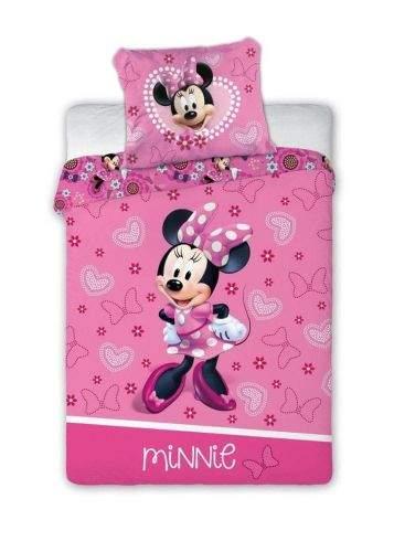 FARO Textil Dětské povlečení Myška Minnie se srdíčky 135x100 cm